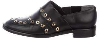 Robert Clergerie Grommet Leather Loafers
