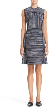 Women's Jason Wu Tweed Textured Fit & Flare Dress $1,595 thestylecure.com