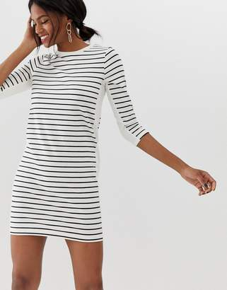 French Connection stripe dress with block panels