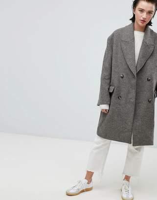 Weekday oversize coat in Chevron