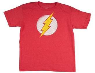 DC Comics Flash The Flash Boys' Classic Lighting Bolt Logo Red Short Sleeve Graphic Tee