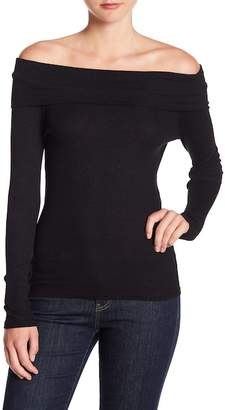Michael Stars Off-the-Shoulder Ribbed Knit Top