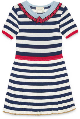 Children's dress with intarsia collar $560 thestylecure.com