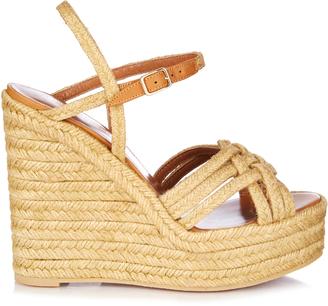 SAINT LAURENT Espadrille wedge sandals $595 thestylecure.com