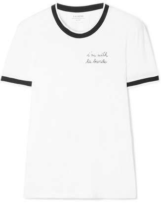 La Ligne - Embroidered Cotton-jersey T-shirt - White