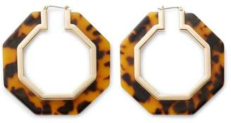Rebecca Minkoff Octagon Resin Hoop Earrings