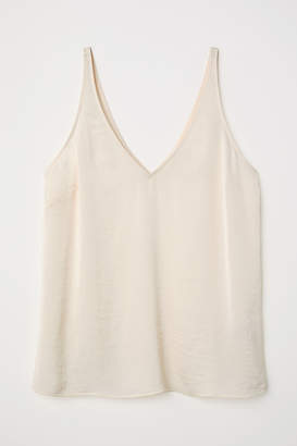 H&M V-neck satin strappy top