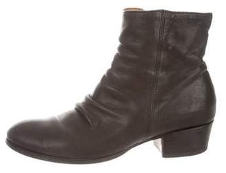 Fiorentini+Baker Leather Ruched Ankle Boots