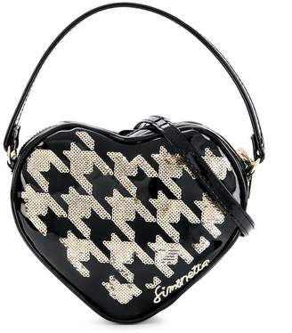 Simonetta houndstooth sequin shoulder bag