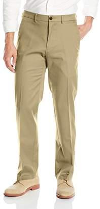 Haggar Men's Premium No-Iron Straight-Fit Invisible Flex Plain-Front Pant