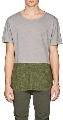 Barneys New York Men's Colorblocked Linen-Blend T-Shirt - Gray