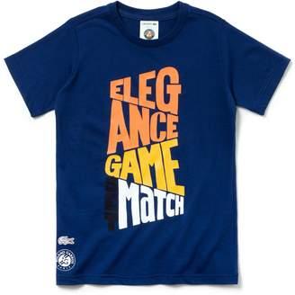 Lacoste Boys' SPORT Roland Garros Edition Cotton T-shirt