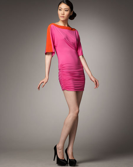 Jay Godfrey Jameson Two-Tone Dress