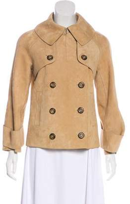 Michael Kors Double-Breasted Suede Jacket