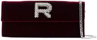 Rochas velvet chain wallet