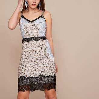 River Island Womens Blue Holly Fulton embellished slip dress