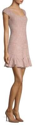 Rebecca Taylor Tweed Flounce Dress