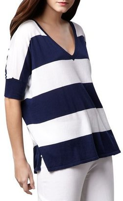 Minnie Rose CLASSIC STRIPED COTTON TOP $200 thestylecure.com