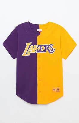 Mitchell & Ness Los Angeles Lakers Baseball Jersey