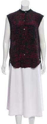 Etoile Isabel Marant Sleeveless Silk Button-Down