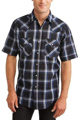 Plains Big And Tall Men's Short Sleeve Plaid Western Shirt