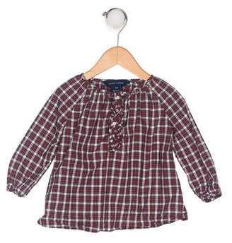Ralph Lauren Girls' Plaid Top