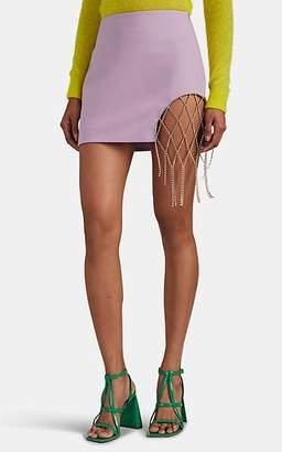 Area Women's Crystal-Net Miniskirt - Purple