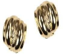 Anne Klein Goldtone Clip Button Earrings