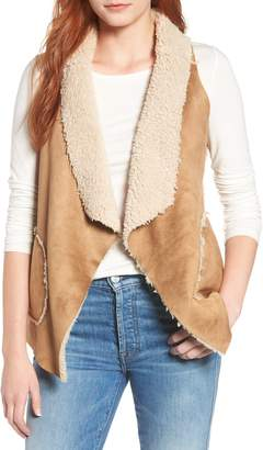 BB Dakota Easily Suede Faux Shearling Vest