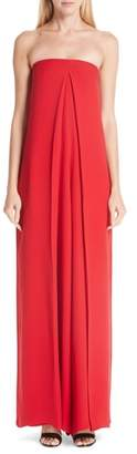 Valentino Pleated Strapless Jumpsuit