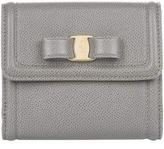 Salvatore Ferragamo Leather Vara Bow French Wallet