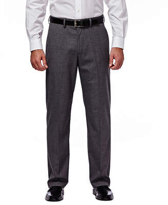 Haggar J.M. Premium Stretch Sharkskin Classic Fit Flat Front Dark Heather Gray Suit Pant