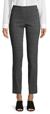 Isaac Mizrahi Imnyc Dot-Print Slim Straight Pants