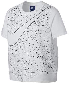 Nike Girl's Short-Sleeve Logo French Terry Top