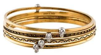 Alexander McQueen Armour Skull Bangle Set