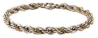 Tiffany & Co. Two-Tone Rope Chain Bracelet