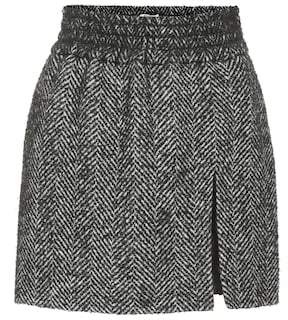 Chevron tweed miniskirt