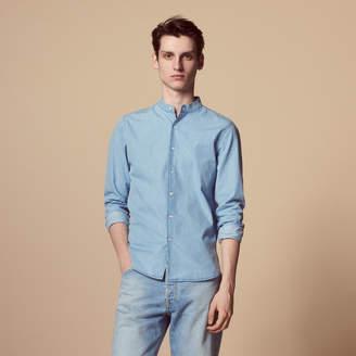 Sandro Chambray shirt with mandarin collar