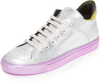 MM6 Leather Lace Up Sneakers $385 thestylecure.com