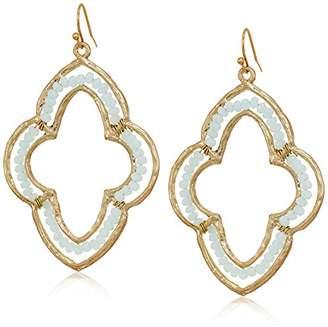 Canvas Glass Bead Moroccean Drop Earrings