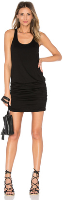 Michael Stars Scoop Neck Shirred Racerback Dress $88 thestylecure.com