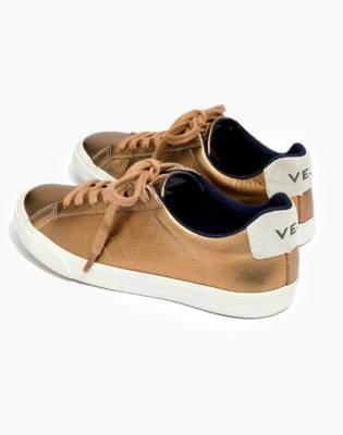 Madewell Veja Esplar Low Sneakers in Metallic Bronze