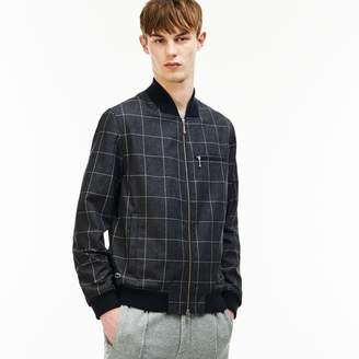 Lacoste Unisex LIVE Check Flannel Bomber Jacket