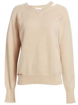 Helmut Lang V-Neck Slash Sweater