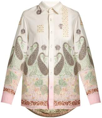 Ashish Paisley-embroidered cotton shirt