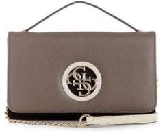 GUESS Open Road Faux Leather Crossbody Wallet