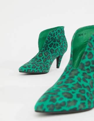 Sofie Schnoor leopard print heeled boot