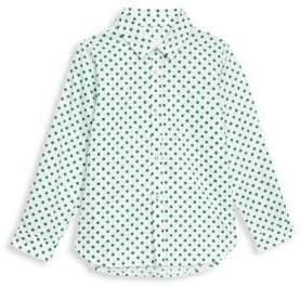 Burberry Little Kid's& Kid's Polka Dot Button-Down Shirt