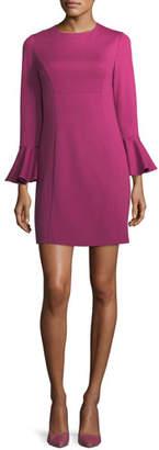 Trina Turk Panache Jewel-Neck Straight Day Dress