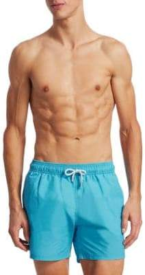 Saks Fifth Avenue COLLECTION Solid Delave Swim Trunks